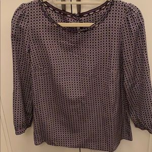 J Crew Printed Silk Blouse